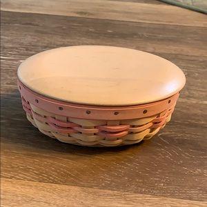 Longaberger Breast Cancer basket and lid